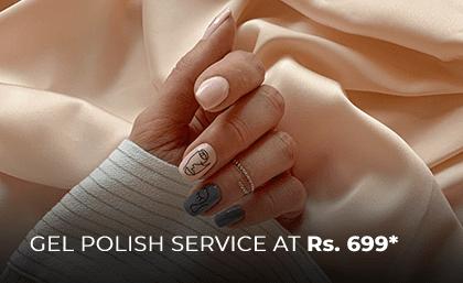 GEL NAIL POLISH SERVICE AT RS 699