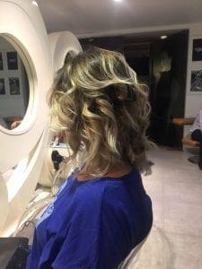 Female Showing Her Platinum Hair   Bodycraft